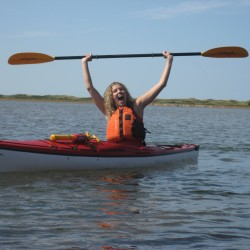 Monette in her Kayak