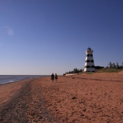 Fun and scenic PEI beach in West Point.