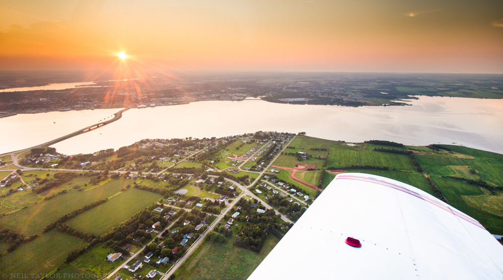 Aerial View of Stratford and Charlottetown, PEI - Photo by Neil Taylor Photography
