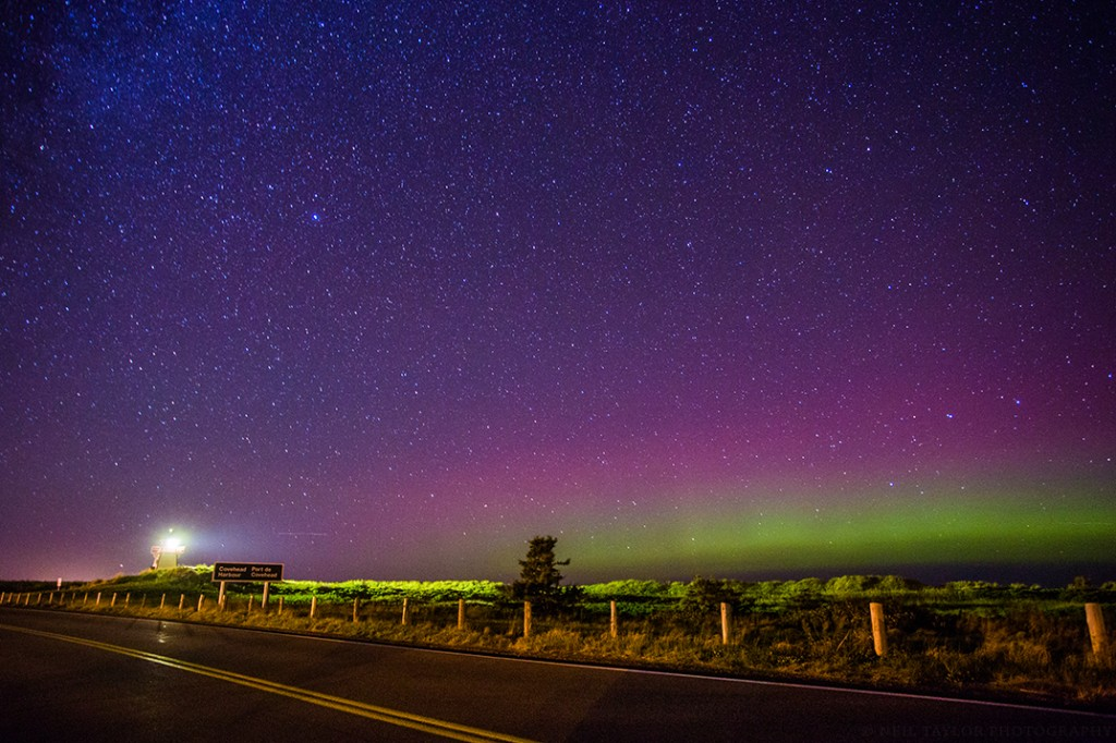 Northern Lights in Covehead Prince Edward Island - Photo by Neil Taylor Photography