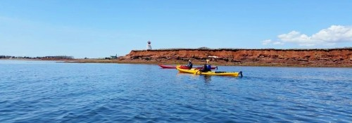 Kayaking near Victoria by the Sea Shore