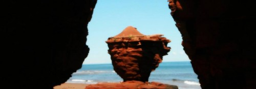 Tea Cup Rock in Thunder Cove, PEI