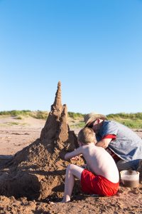 Building Sandcastle with Maurice Bernard in PEI
