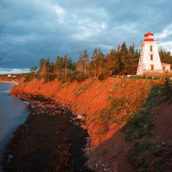 Scenic lighthouse in Cape Bear Prince Edward Island