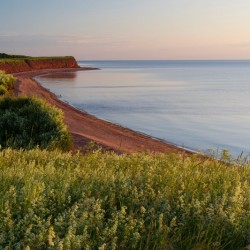 Beautiful and scenic Prince Edward Island drive.