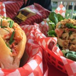 Try out a lobster roll from Dave's lobster!