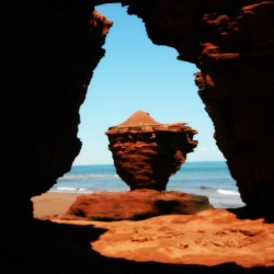 Tea Cup Rock in Thunder Cove, PEI